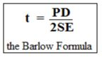 minimum required thickness as per ASME B31.3 and Barlow Formula