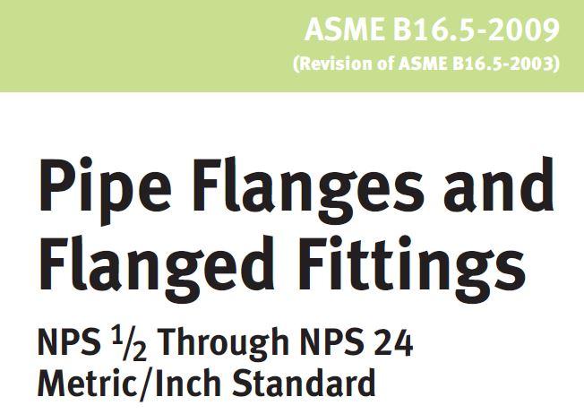 pressure rating class ASME B16.5